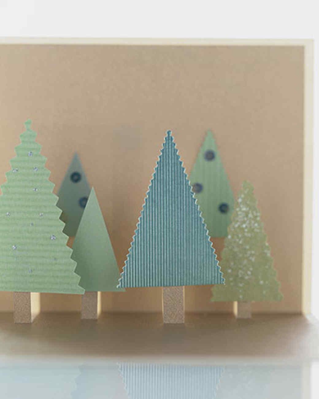 wald idee weihnachtskarten basteln