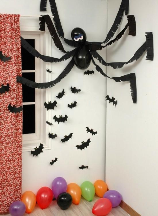 wanddeko spinne basteln halloween