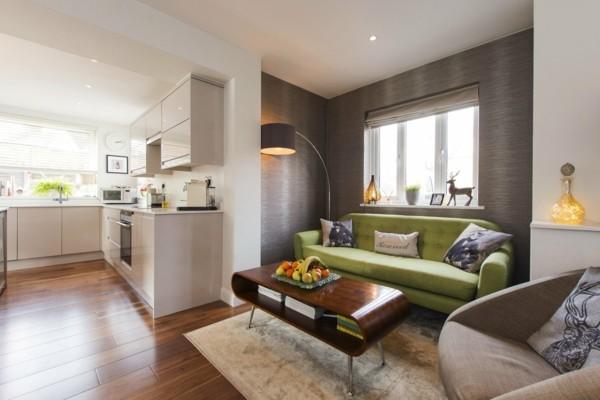 wandfarbe brauntöne moderne wohneinrichtung