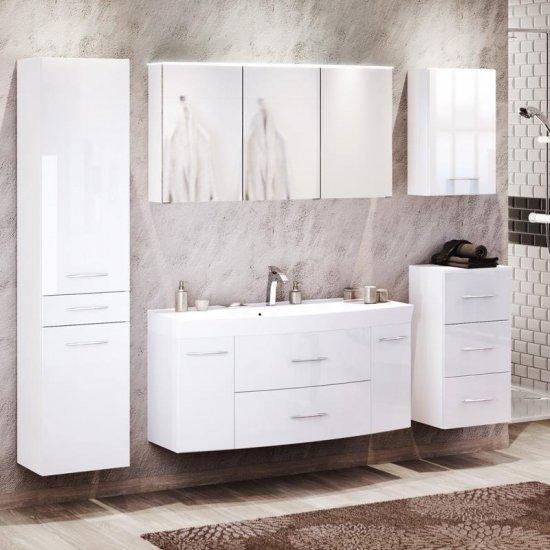 weiße badeinrichtung badmöbel set