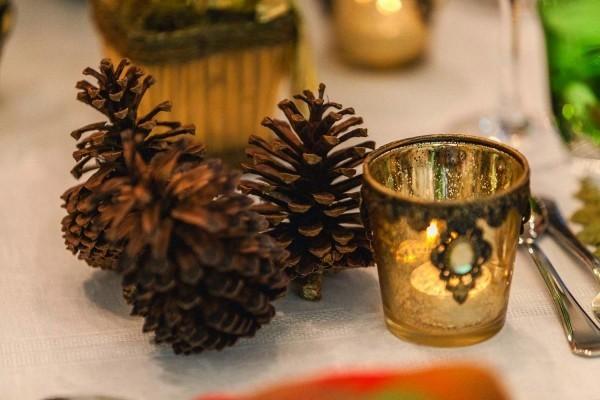 weihnachtenbastelideen eichel und andere glanzvolle details