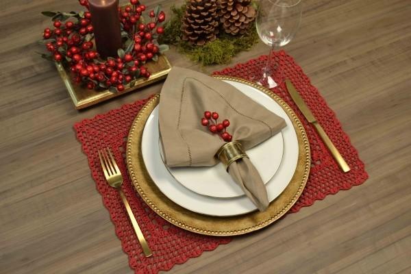 weihnachtenbastelideen feierlicher tisch set