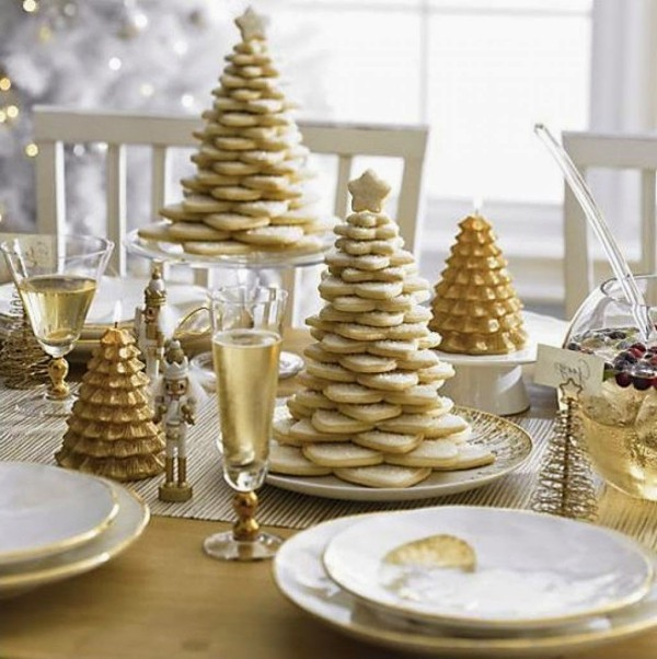 weihnachtenbastelideen tolle goldene details