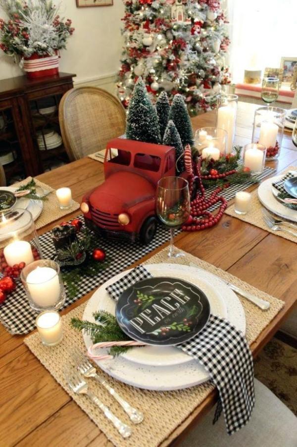 weihnachtliche Tischdeko auto