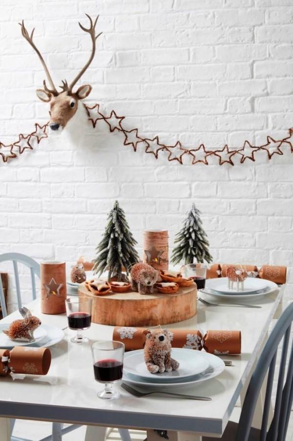 weihnachtliche Tischdeko bären