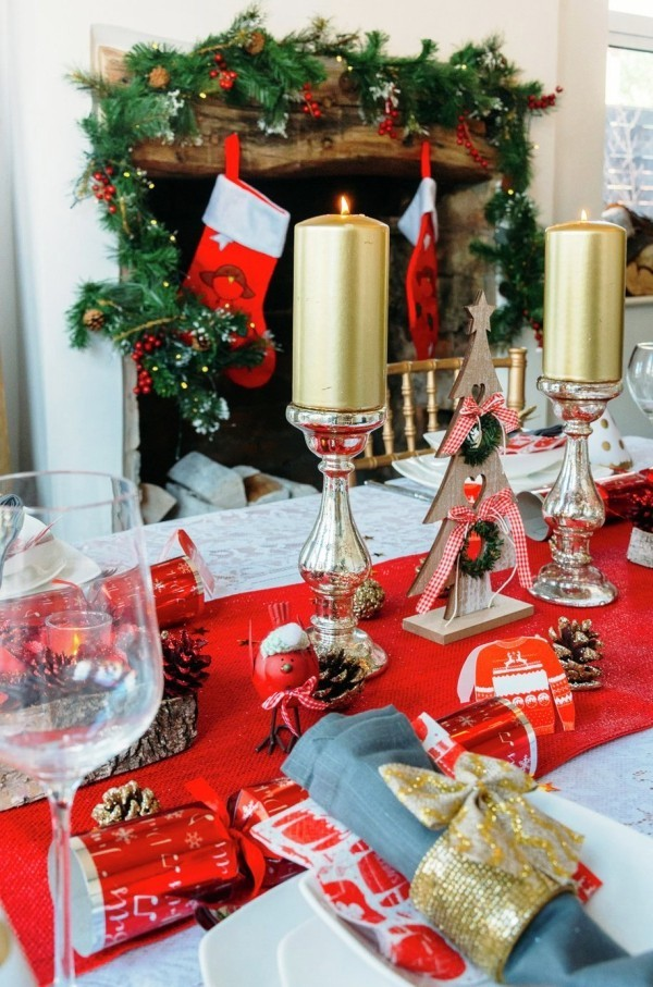 weihnachtliche Tischdeko einfach modern