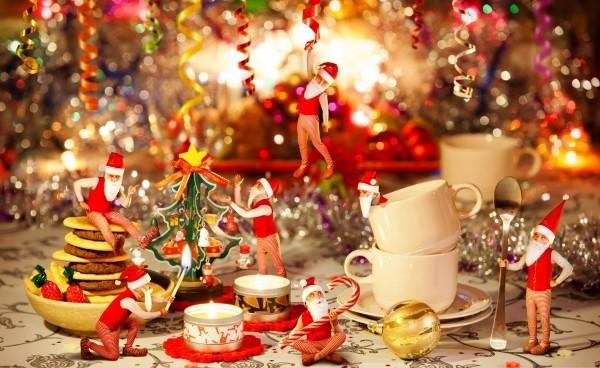 weihnachtliche Tischdeko elfen
