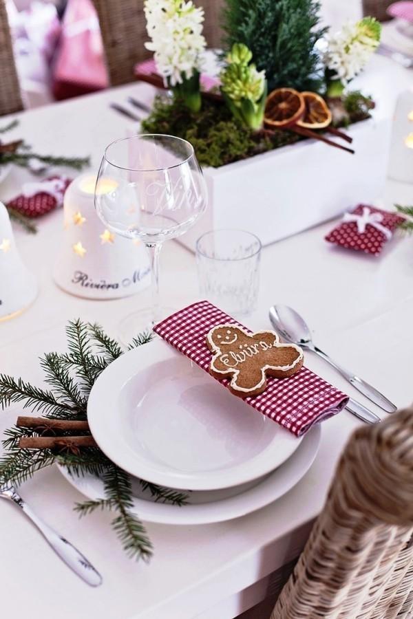 weihnachtliche Tischdeko keks namen