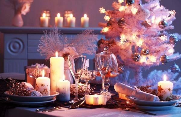 weihnachtliche Tischdeko kerzen