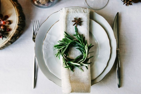 weihnachtliche Tischdeko kleiner kranz