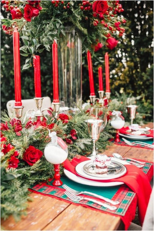 weihnachtliche Tischdeko leicht und traditonell