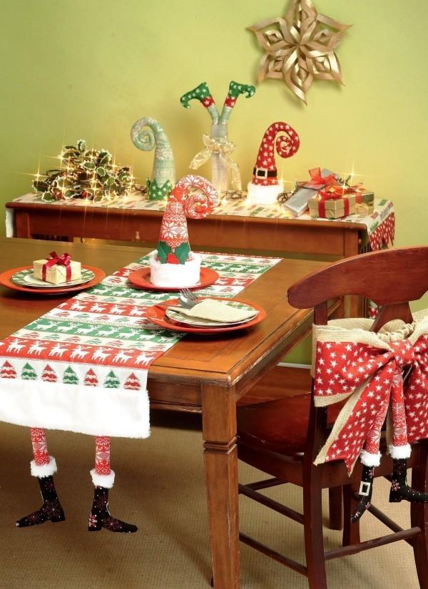 weihnachtliche Tischdeko lustig