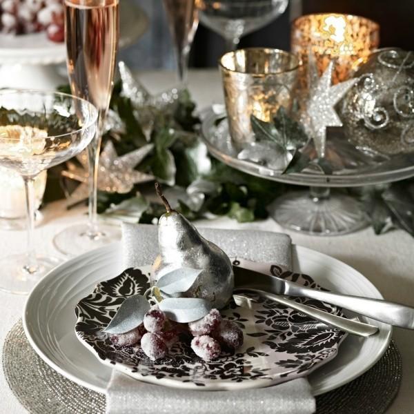 weihnachtliche Tischdeko obst