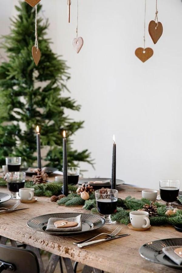 weihnachtliche Tischdeko schöner tisch