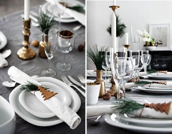 weihnachtliche Tischdeko serviettenring