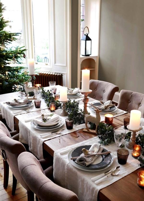 weihnachtliche Tischdeko sesseln