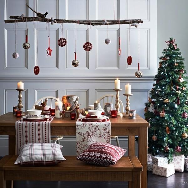 weihnachtliche Tischdeko skandi gemütlich