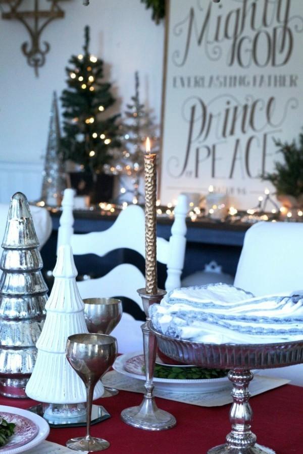 weihnachtliche Tischdeko skandi stil