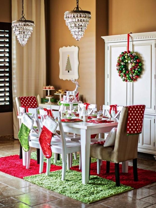 weihnachtliche Tischdeko socken