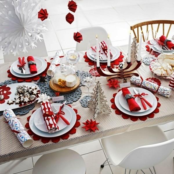 weihnachtliche Tischdeko stilvoll