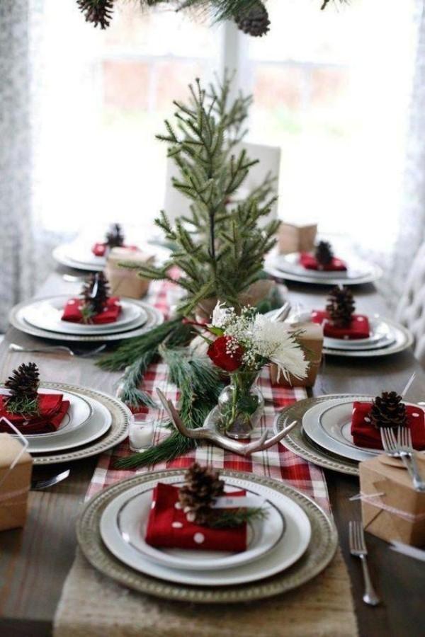 weihnachtliche Tischdeko tannenbaum