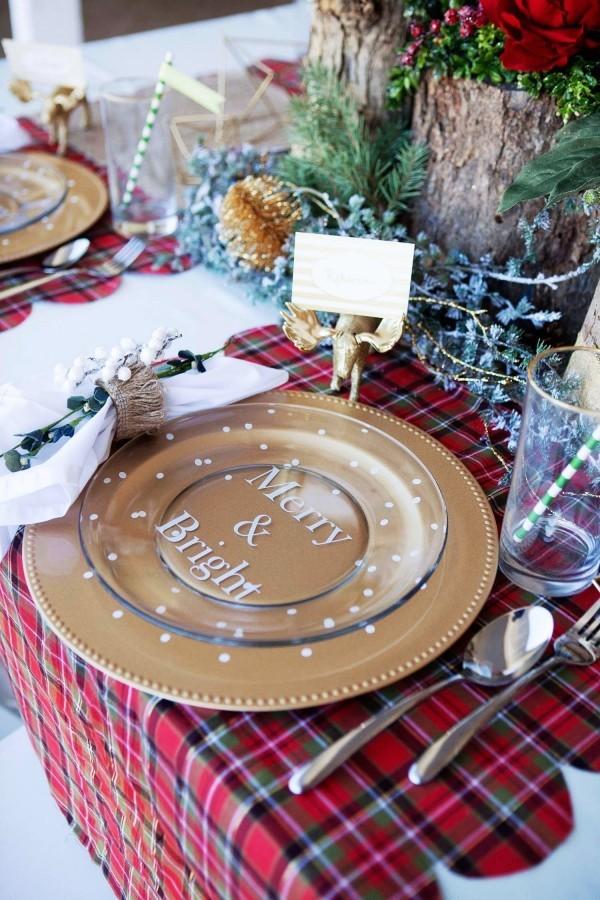 weihnachtliche Tischdeko tischdeke design