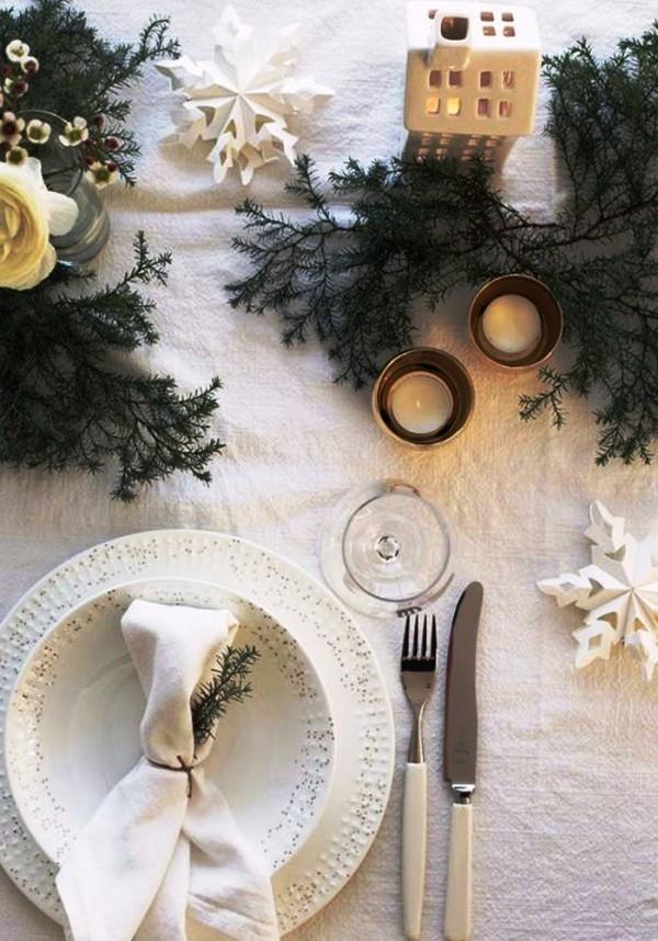 weihnachtliche Tischdeko wintermärchen