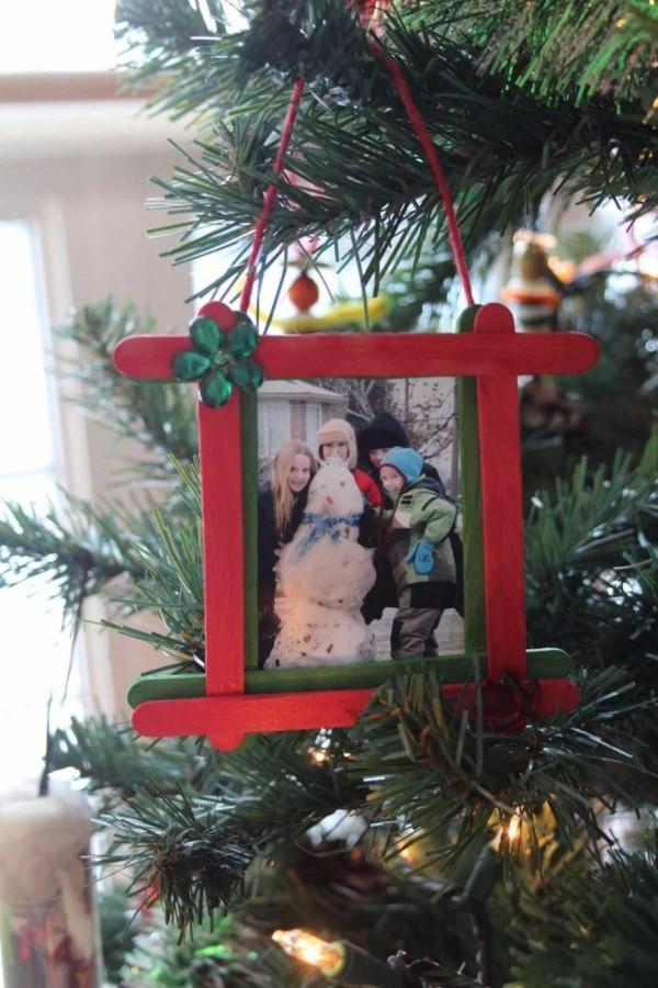 weihnachtsbastelideen bild am weihnachtsbaum
