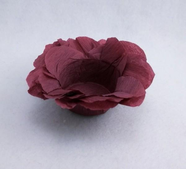 weihnachtsbastelideen dunkle lila farbe