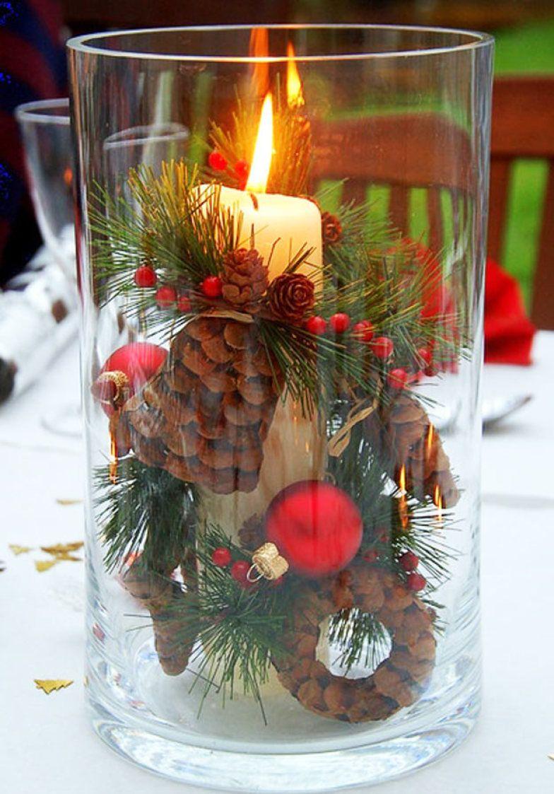 weihnachtsbastelideen eichel im glas
