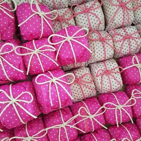 weihnachtsbastelideen papier in rosa und weiß