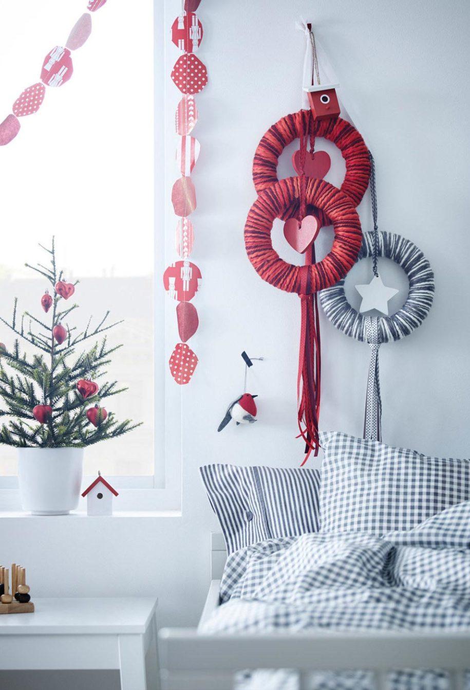 weihnachtsbastelideen stoff kränze für die wand