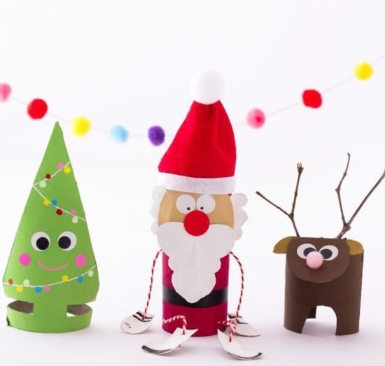 Favorit Basteln mit Klorollen zu Weihnachten - 60 einfache DIY Projekte AD92