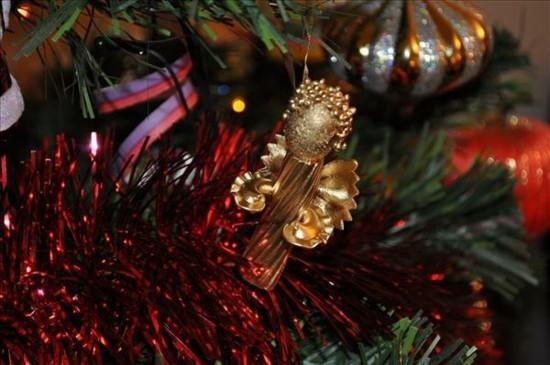 weihnachtsdeko basteln mit nudeln engel