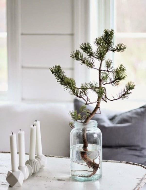 weihnachtsdeko puristisch tischdeko winter