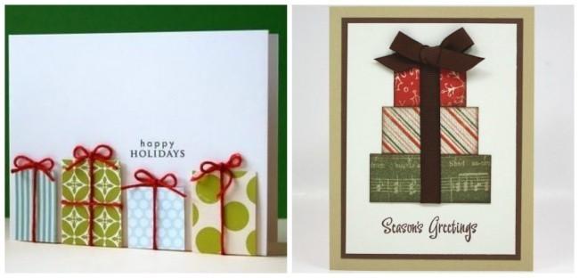 weihnachtskarten basteln die verschiedensten kleinen bilder