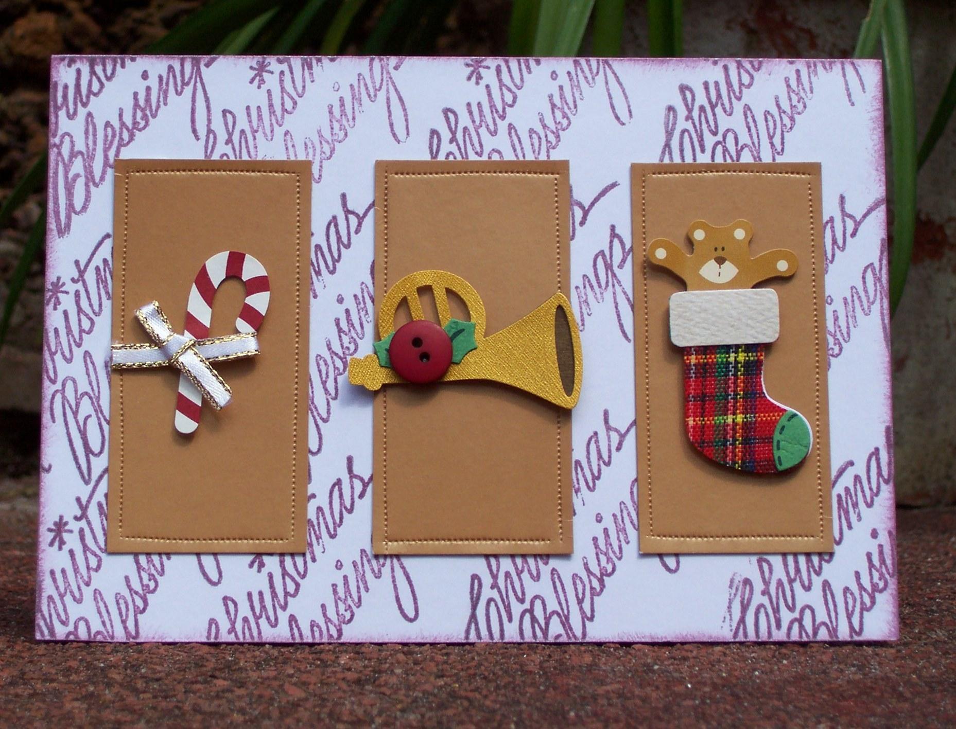 weihnachtskarten basteln einfache elegante ideen
