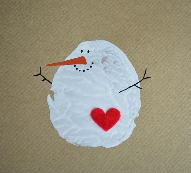 weihnachtskarten basteln mit einem tollen herz