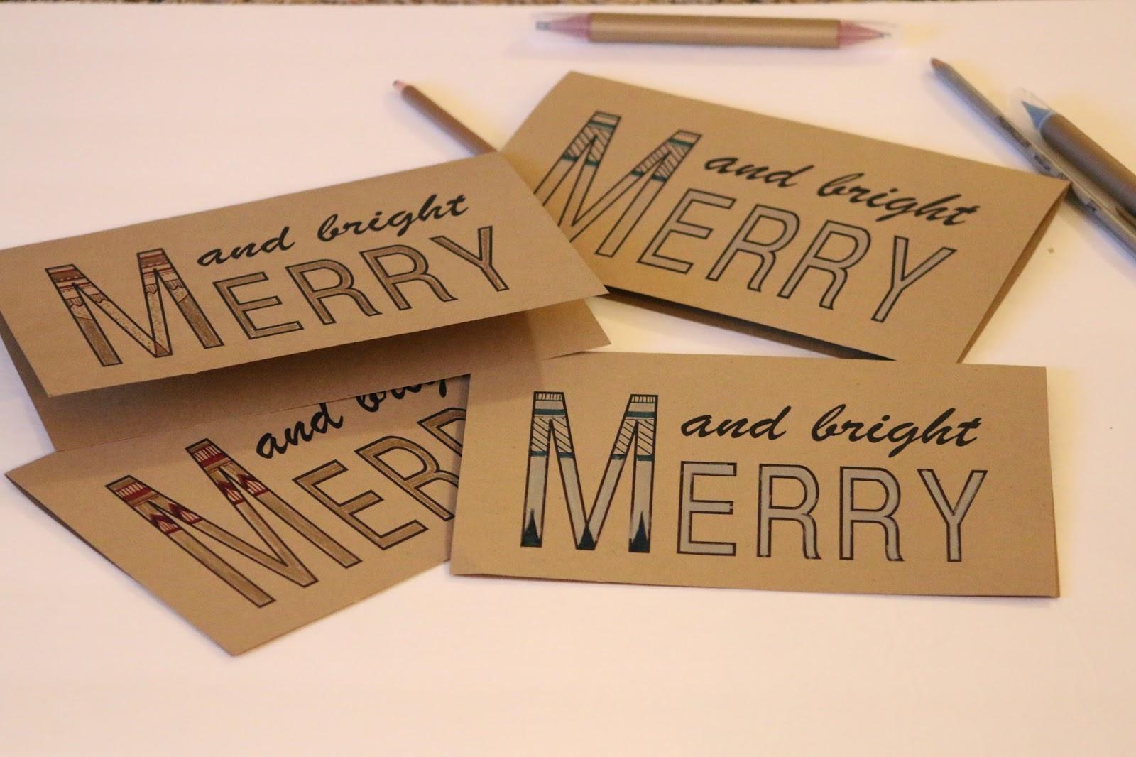 weihnachtskarten basteln mit einfachen botschaften