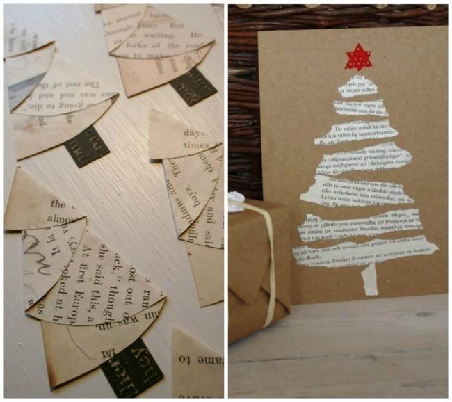 weihnachtskarten basteln tannenbaum machen