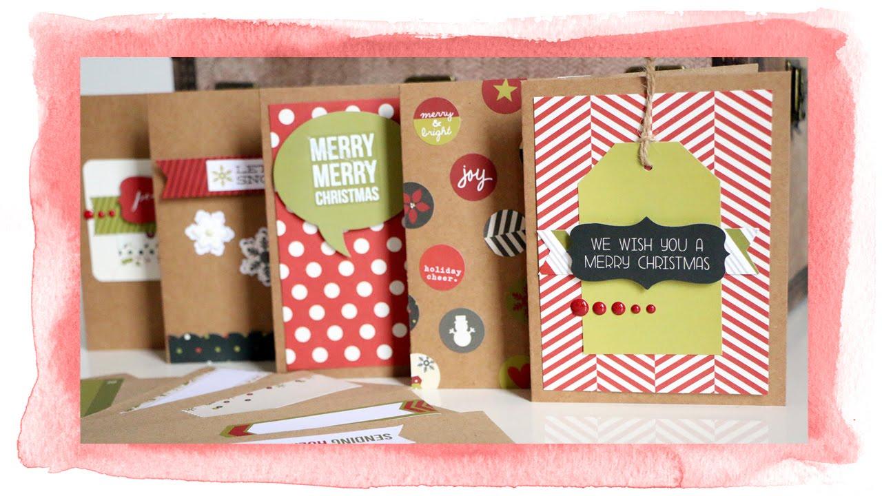 weihnachtskarten basteln verschiedene einfache ideen