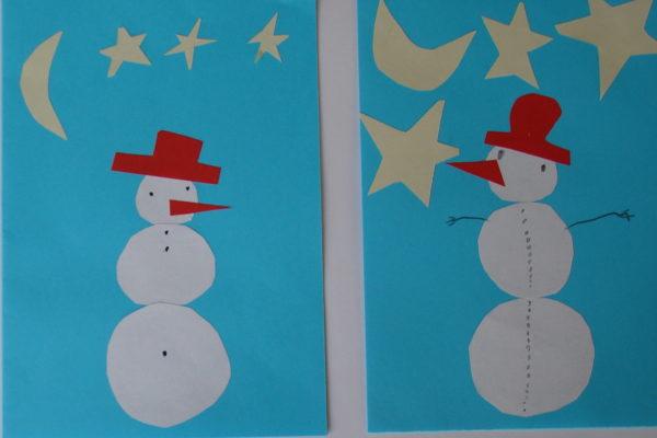 weihnachtskarten basteln weißer hintergrund