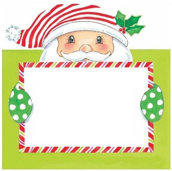 weihnachtsmann mit karte weihnachtskarten basteln