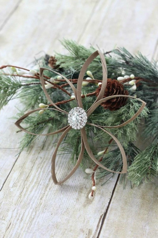 weihnachtsstern ausgefallene weihnachtsdeko selber machen