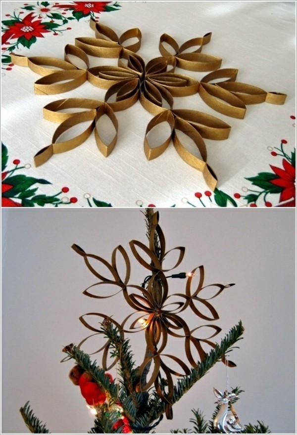 weihnachtsstern basteln ausgefallene weihnachtsdeko selber machen