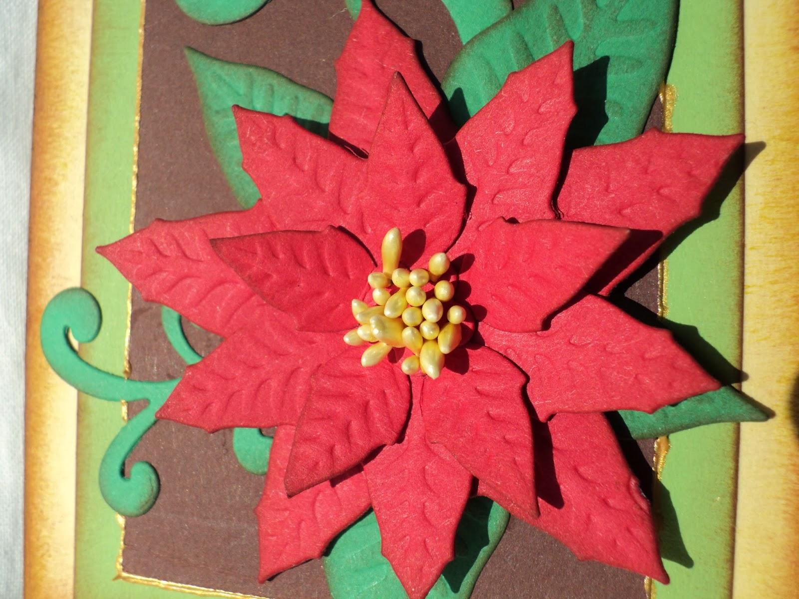 weihnachtsstern idee weihnachtskarten basteln