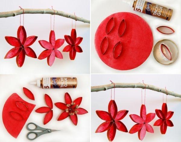 weihnachtssterne basteln ausgefallene weihnachtsdeko selber machen