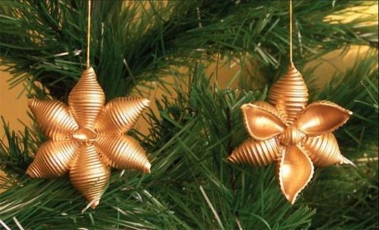 weihnachtssterne basteln mit nudeln zu weihnachten