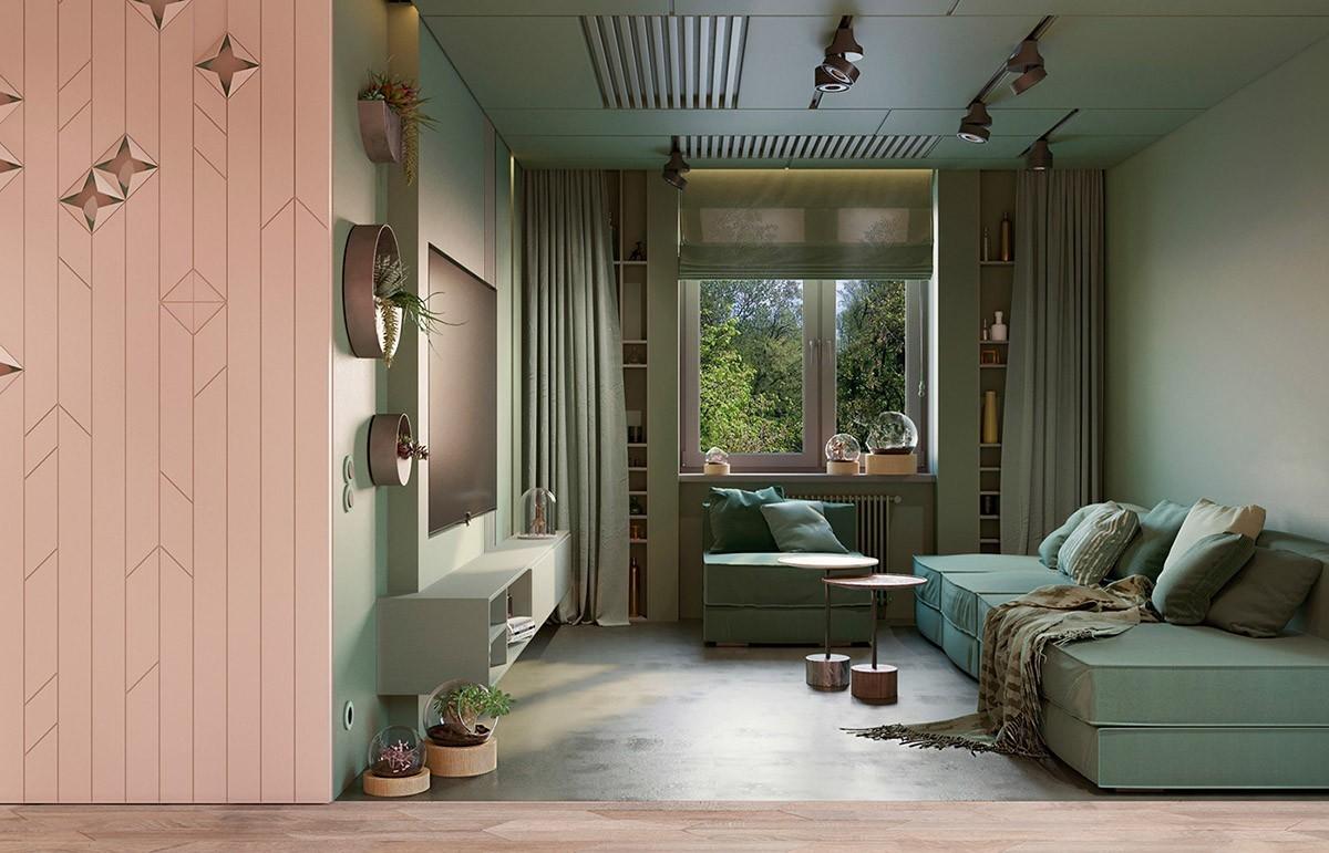 wohnzimmer farben dezente helle möbel