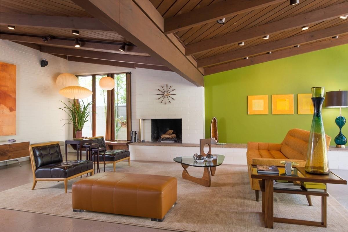 wohnzimmer farben grüne und weiße wände